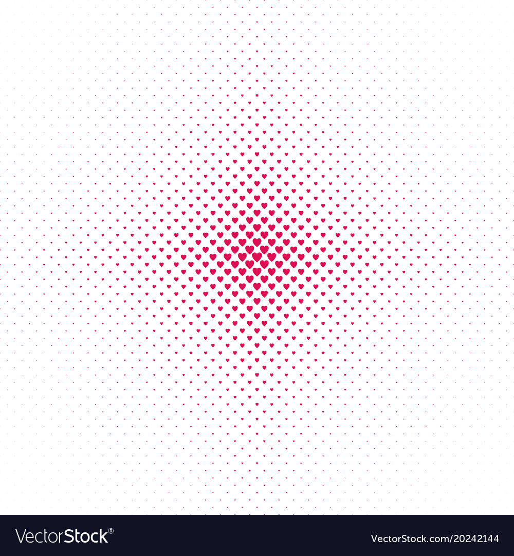Abstract halftone heart pattern background vector image