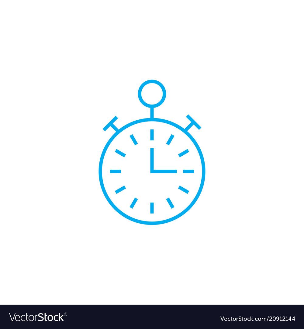 Alarm clock linear icon concept alarm clock line