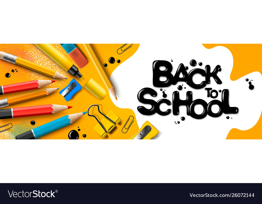 Back to school sale horizontal banner first day