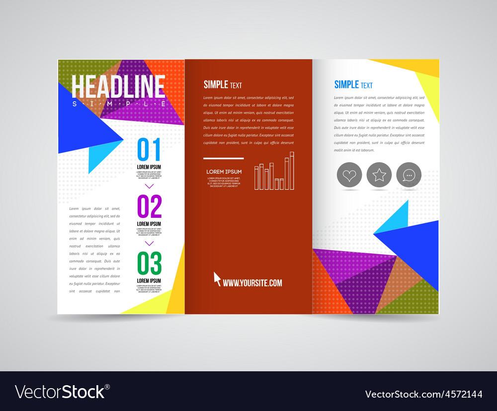 Brochure Template Royalty Free Vector Image Vectorstock