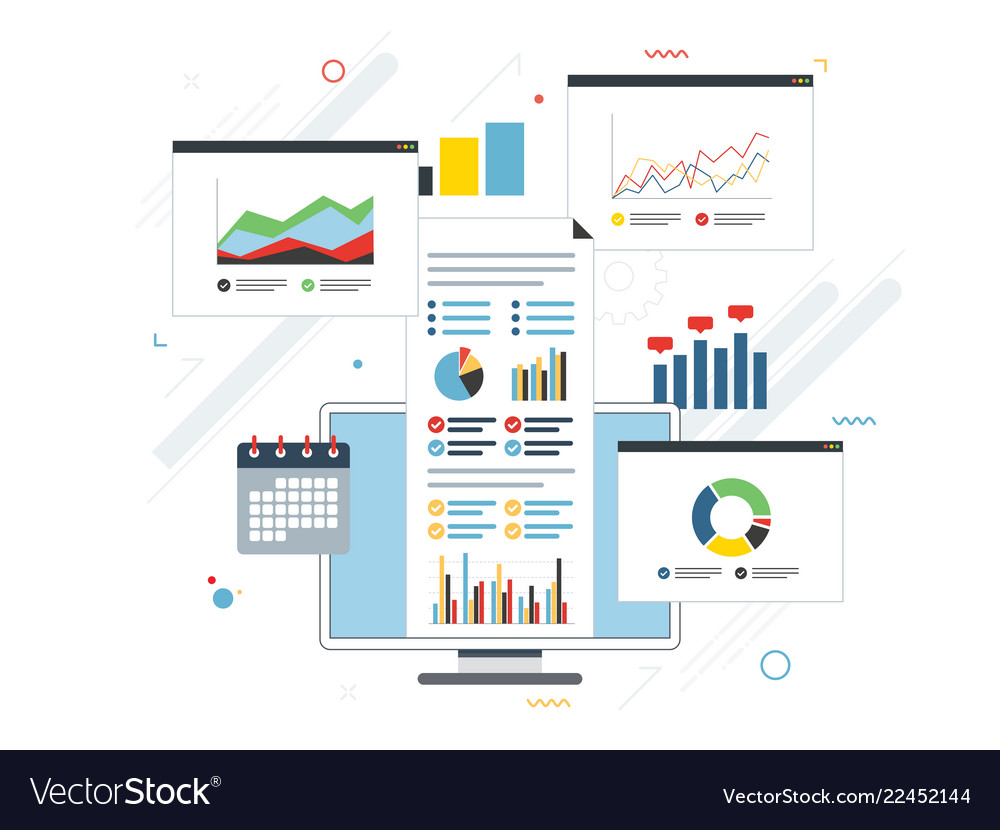 Concept of finance investment planning analytics