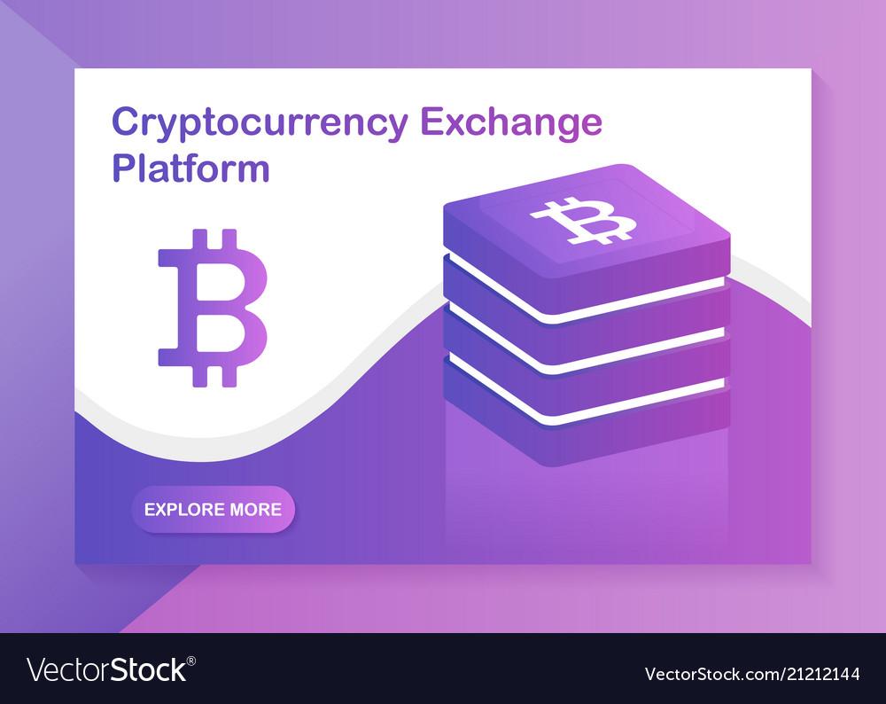 Cryptocurrency exchange platform web-design