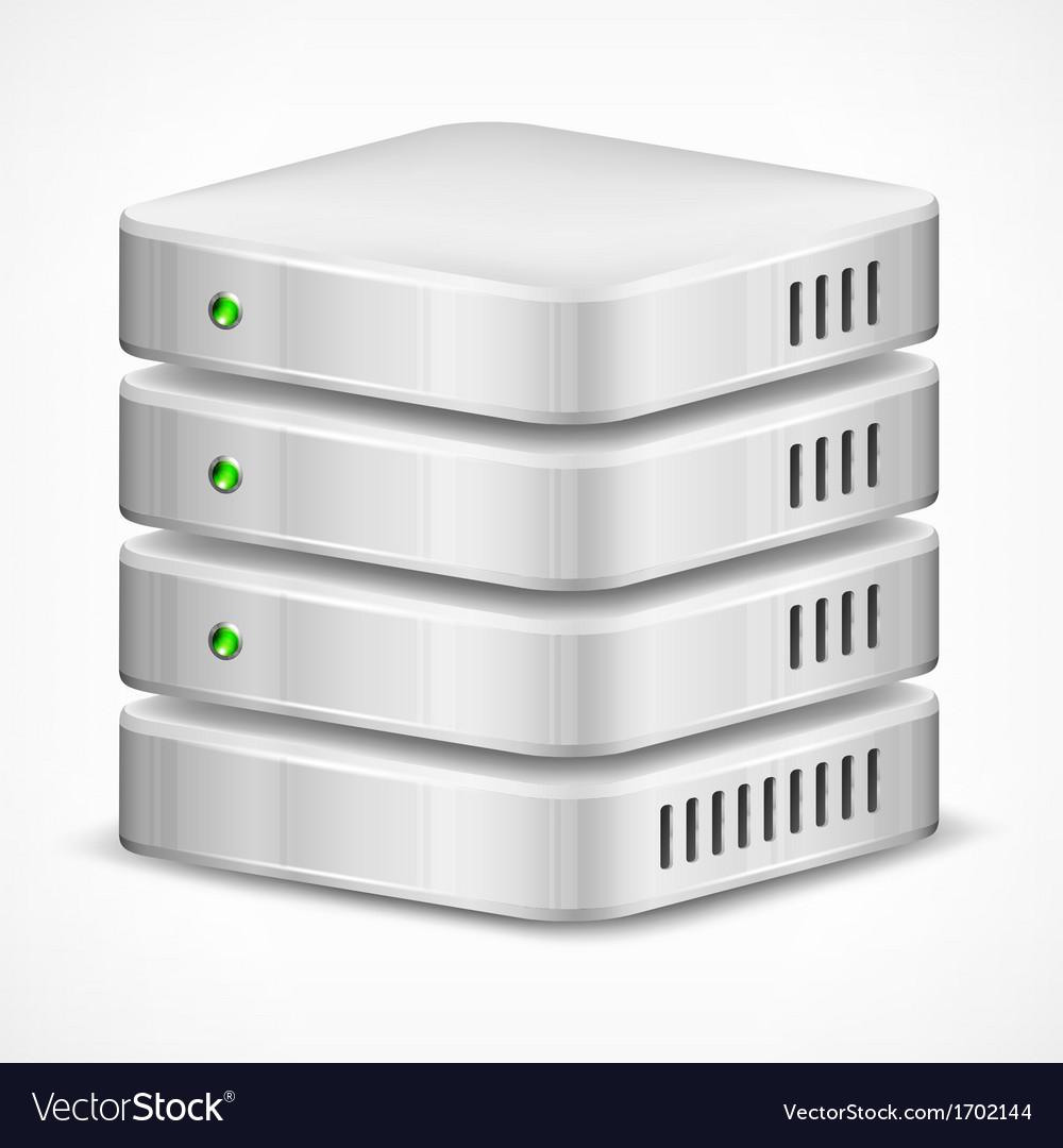 Database on white