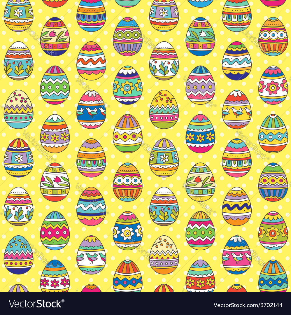 Easter pattern yellow