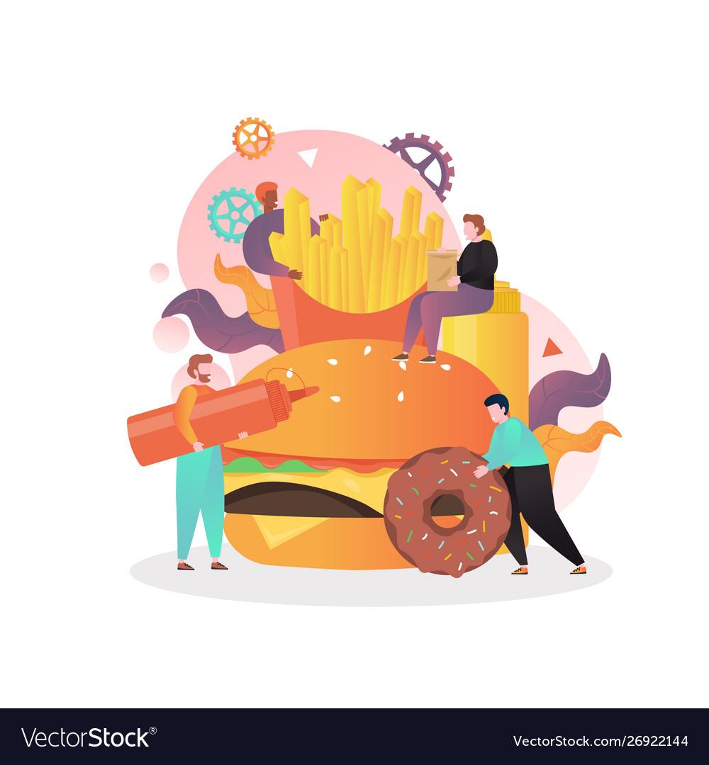 Fast food concept for web banner website