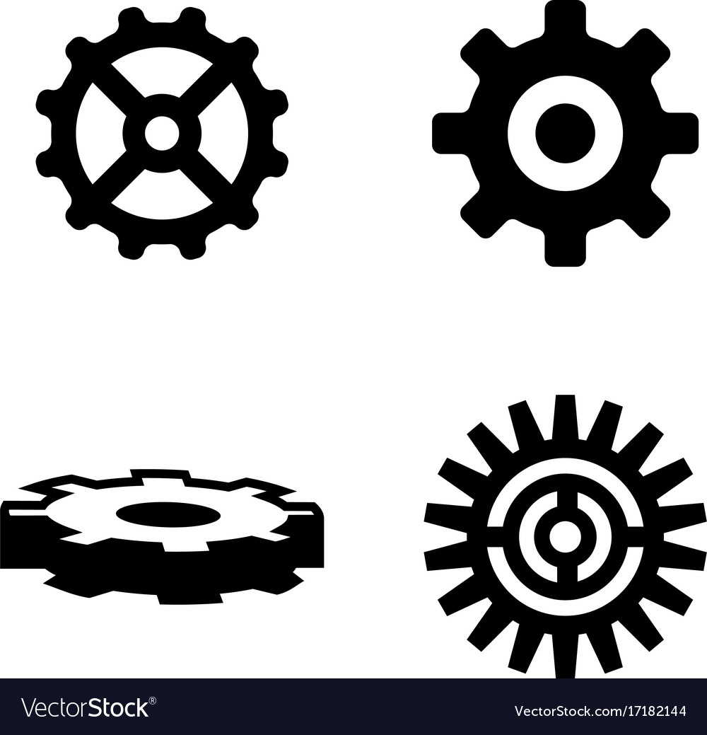 Gear simple related icons