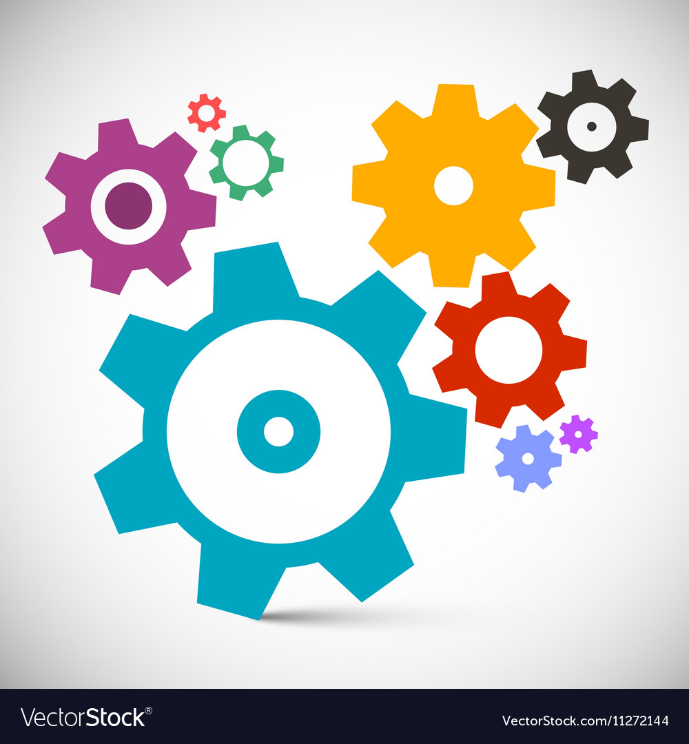 Gears - Cogs Set Technology Items vector image