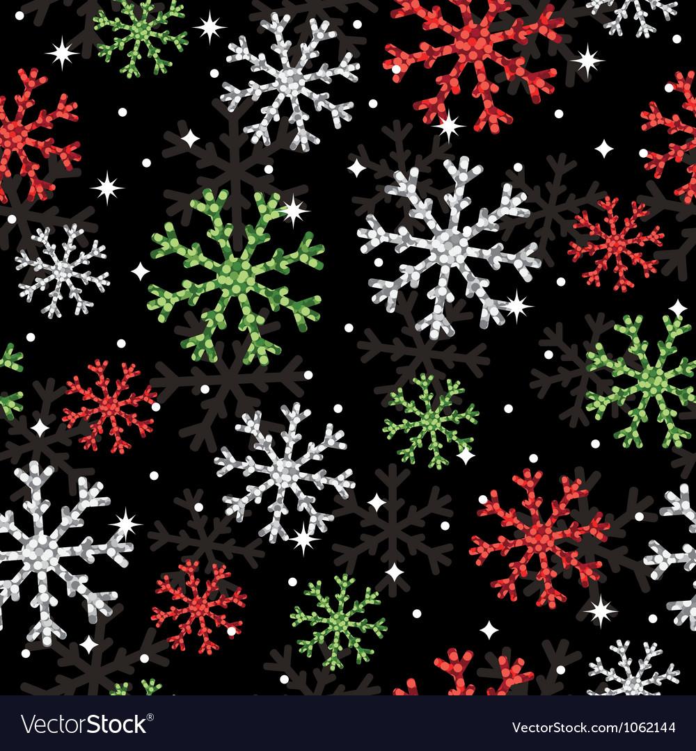 Glitter snowflake pattern