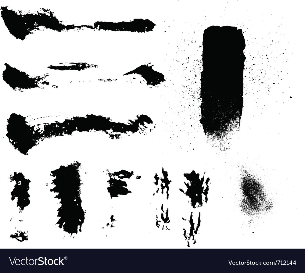 Grunge particles vector image