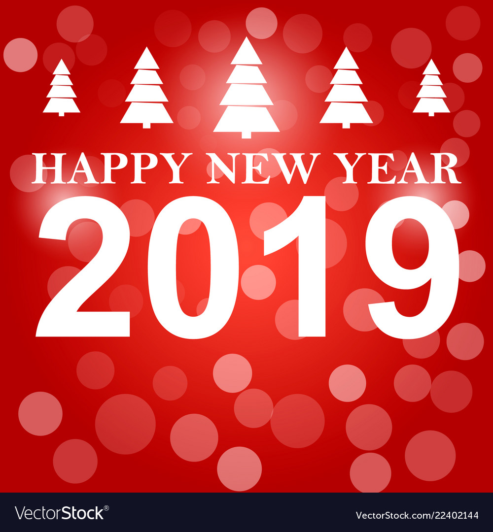 happy new year 2019 background decoration vector image