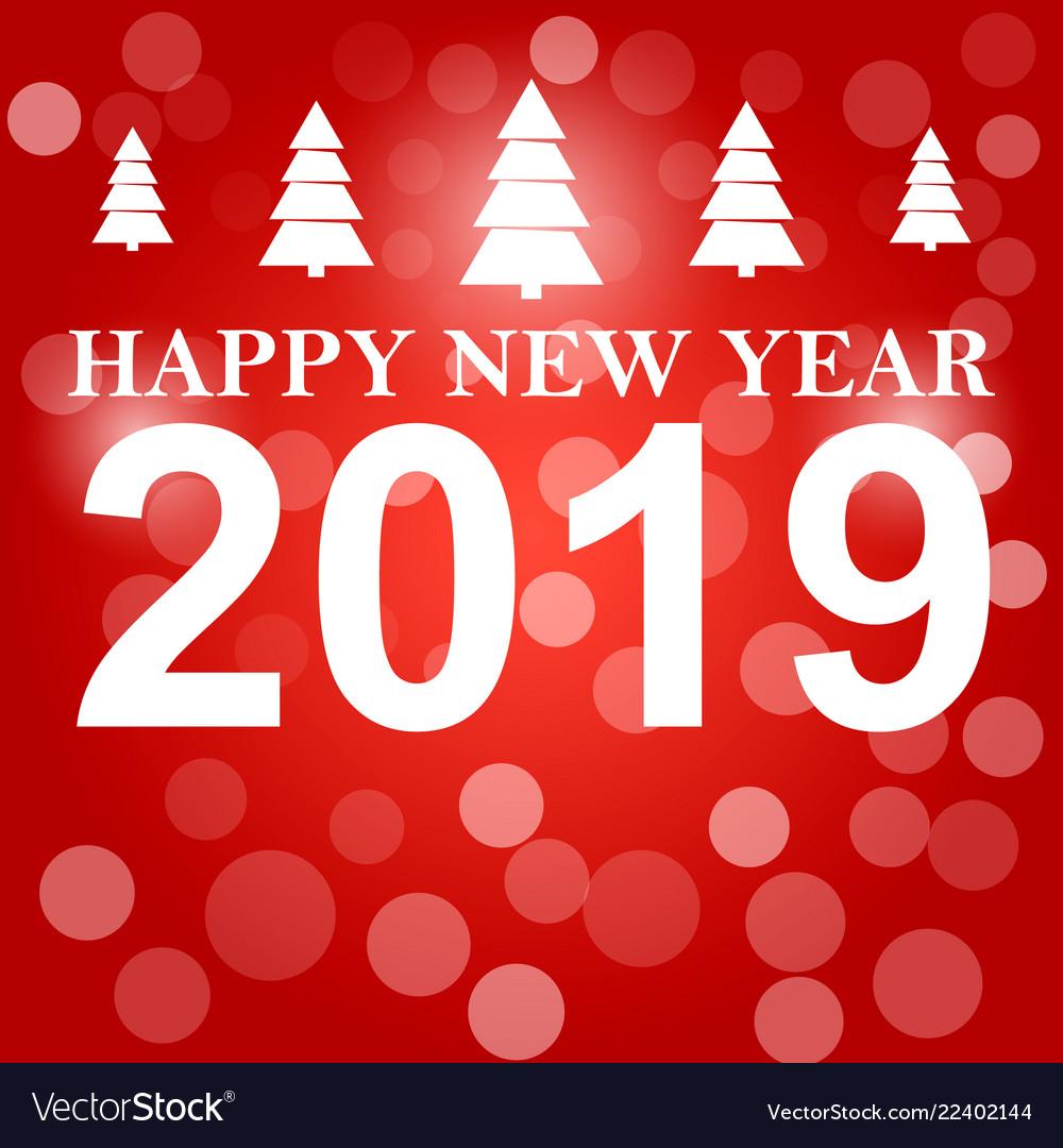 Happy new year 2019 background decoration