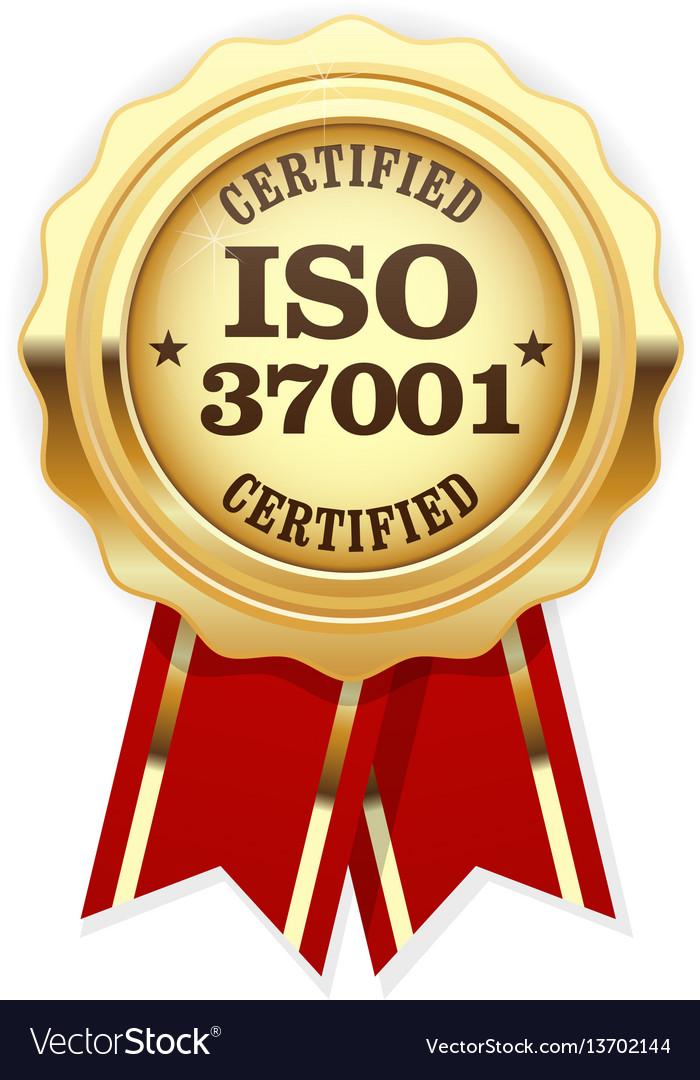 Iso 37001 standard certified rosette