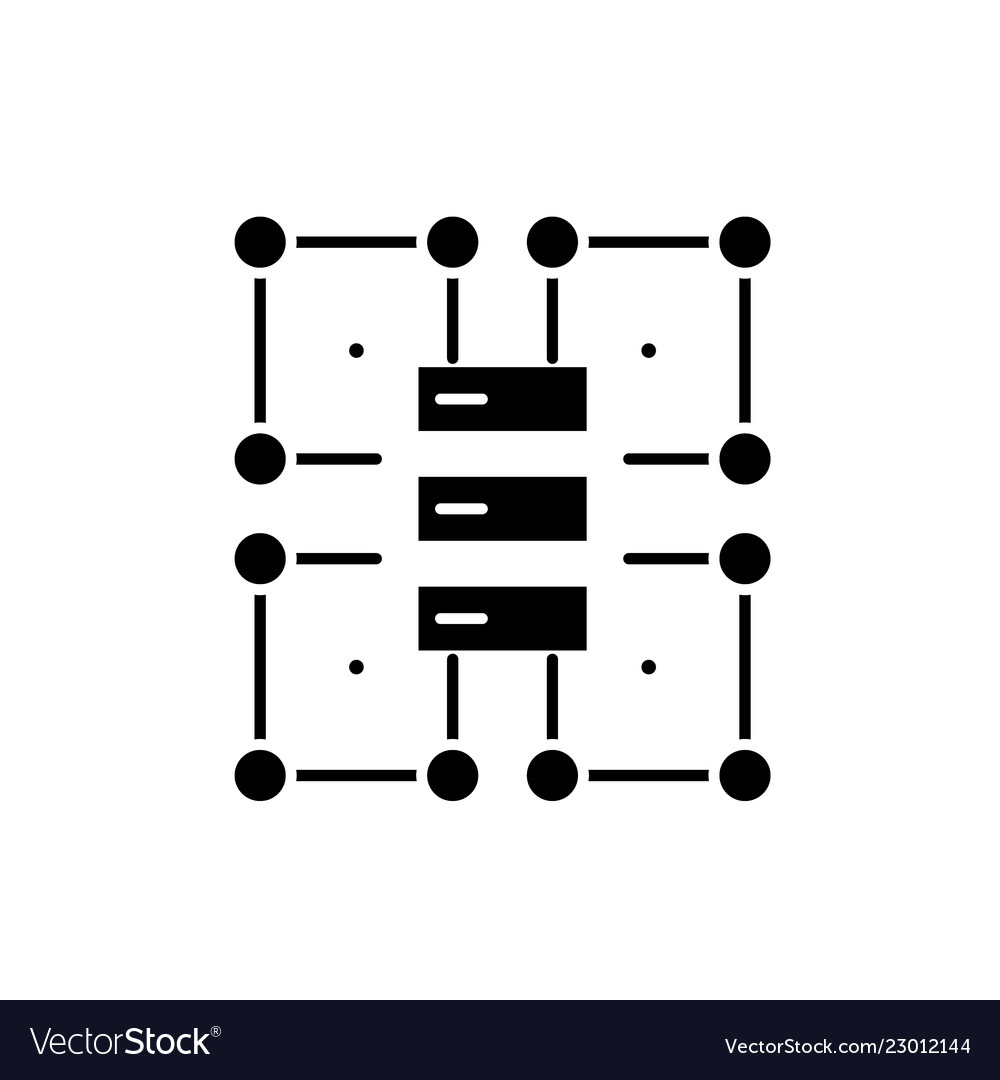 Organization structure black icon sign on