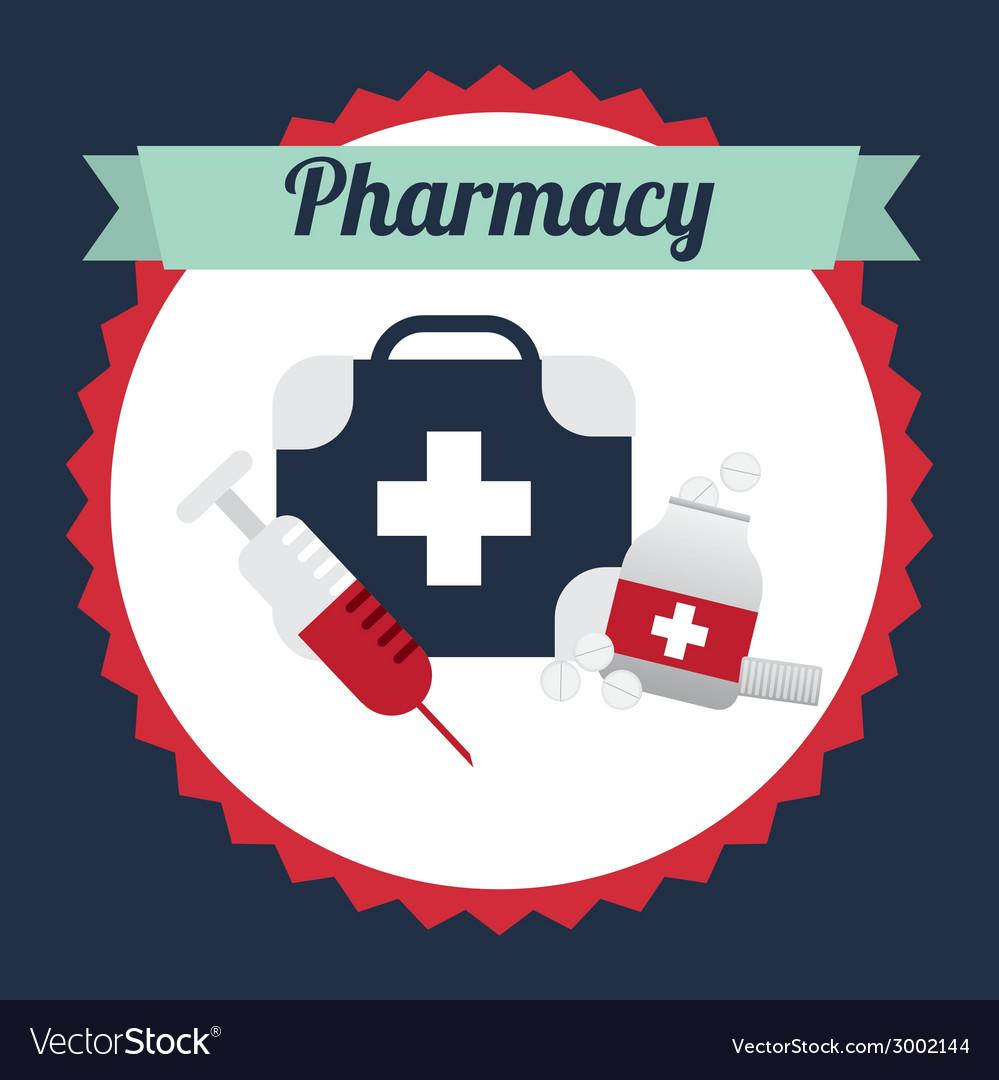 pharmacy design royalty free vector image vectorstock
