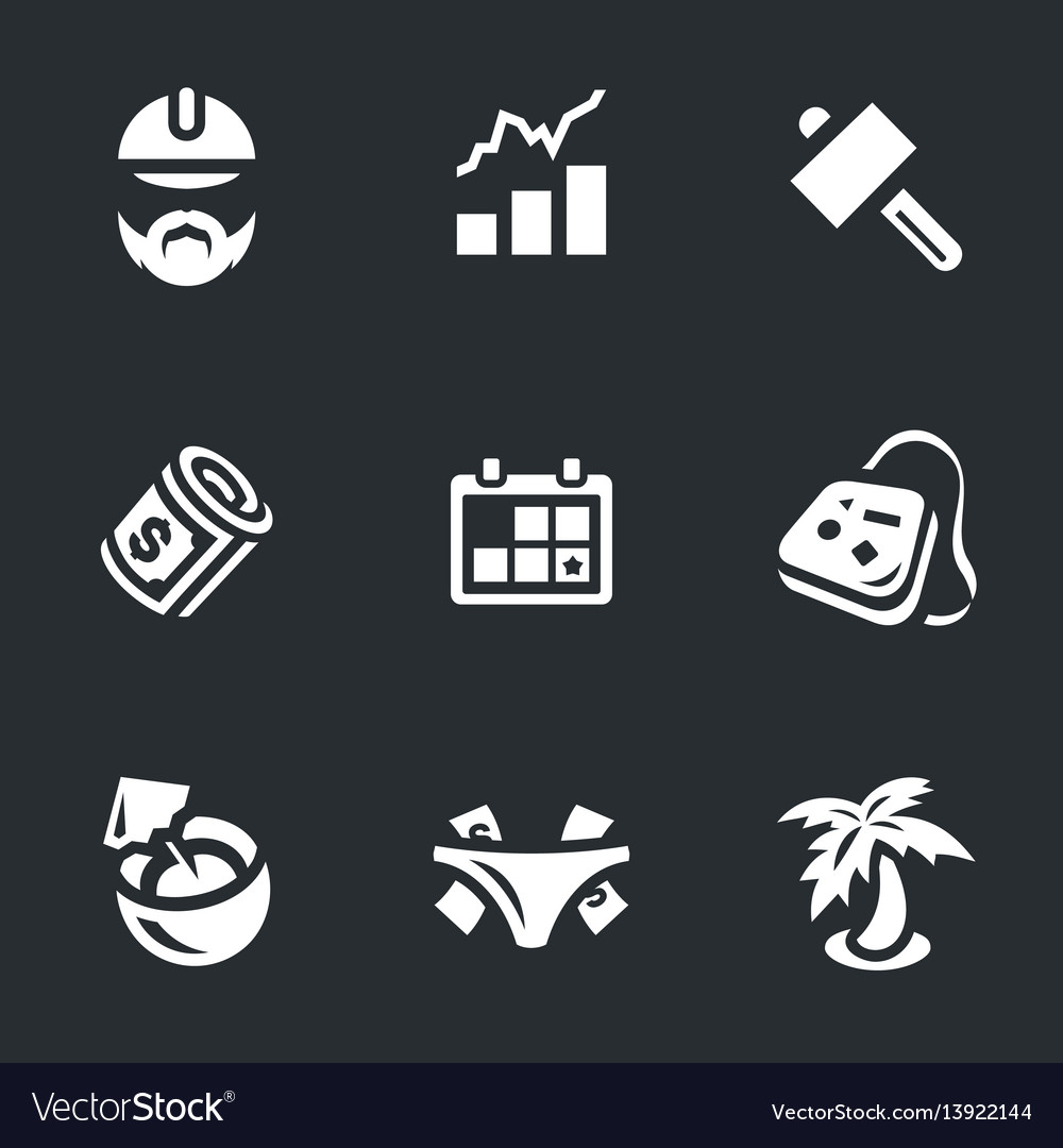 Set work and leisure icons
