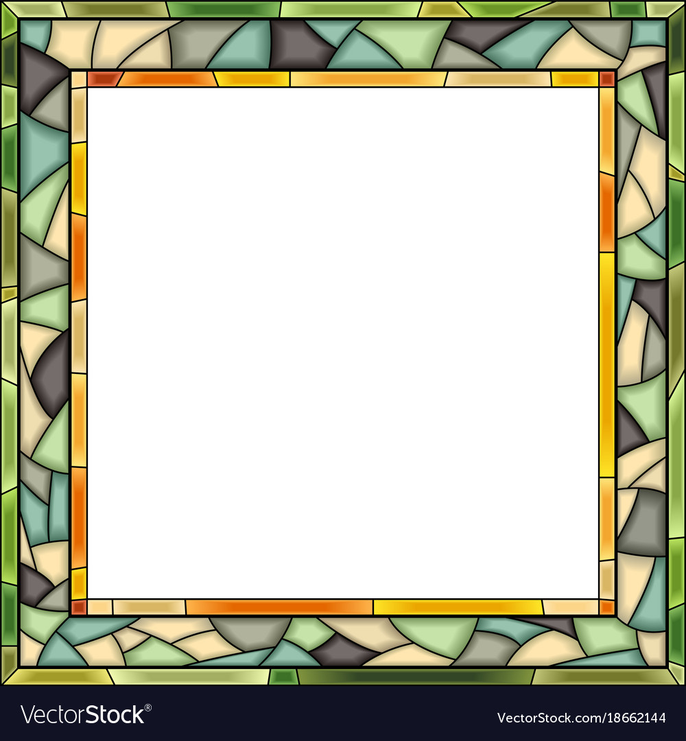 Stained-glass window frame for photography