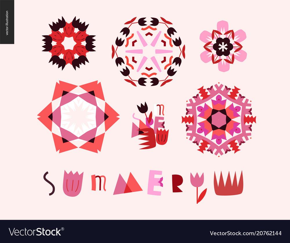 Summer kaleidoscopic patterns