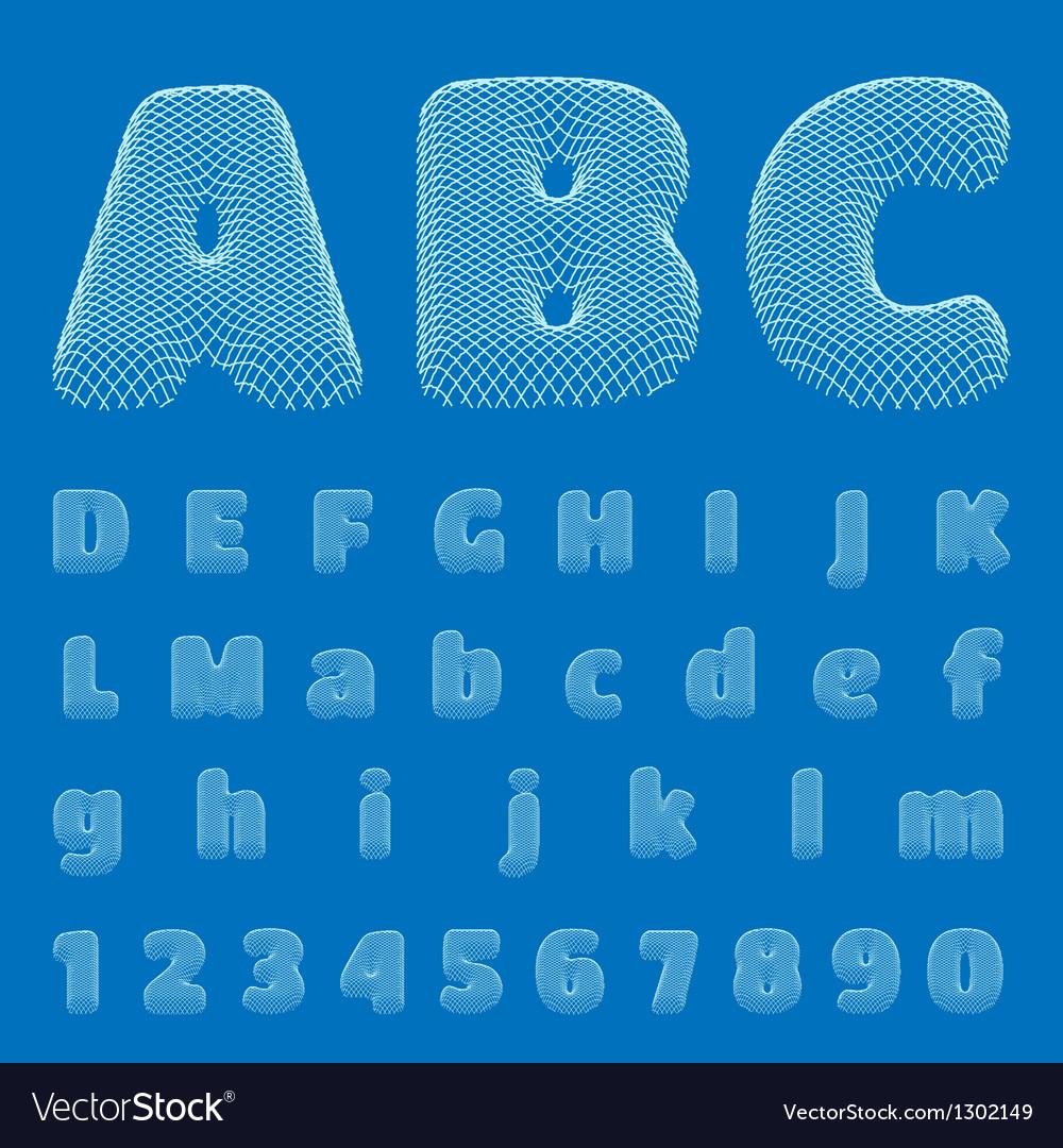 BluePrint Alphabet eps10