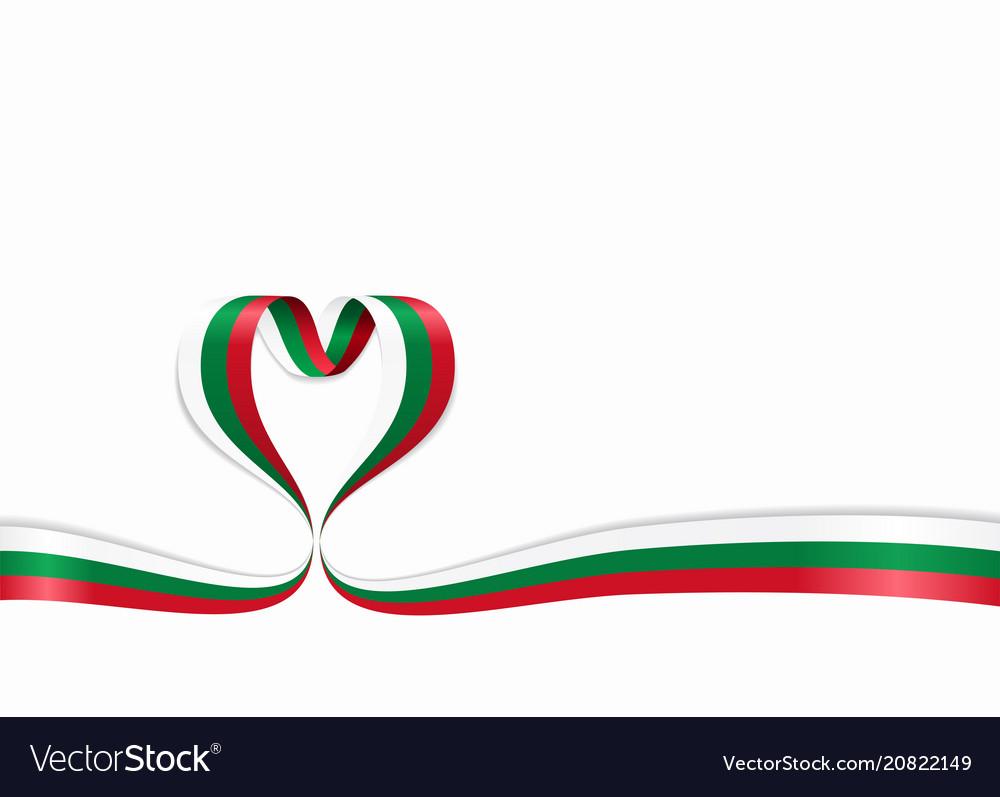 Bulgarian flag heart-shaped ribbon