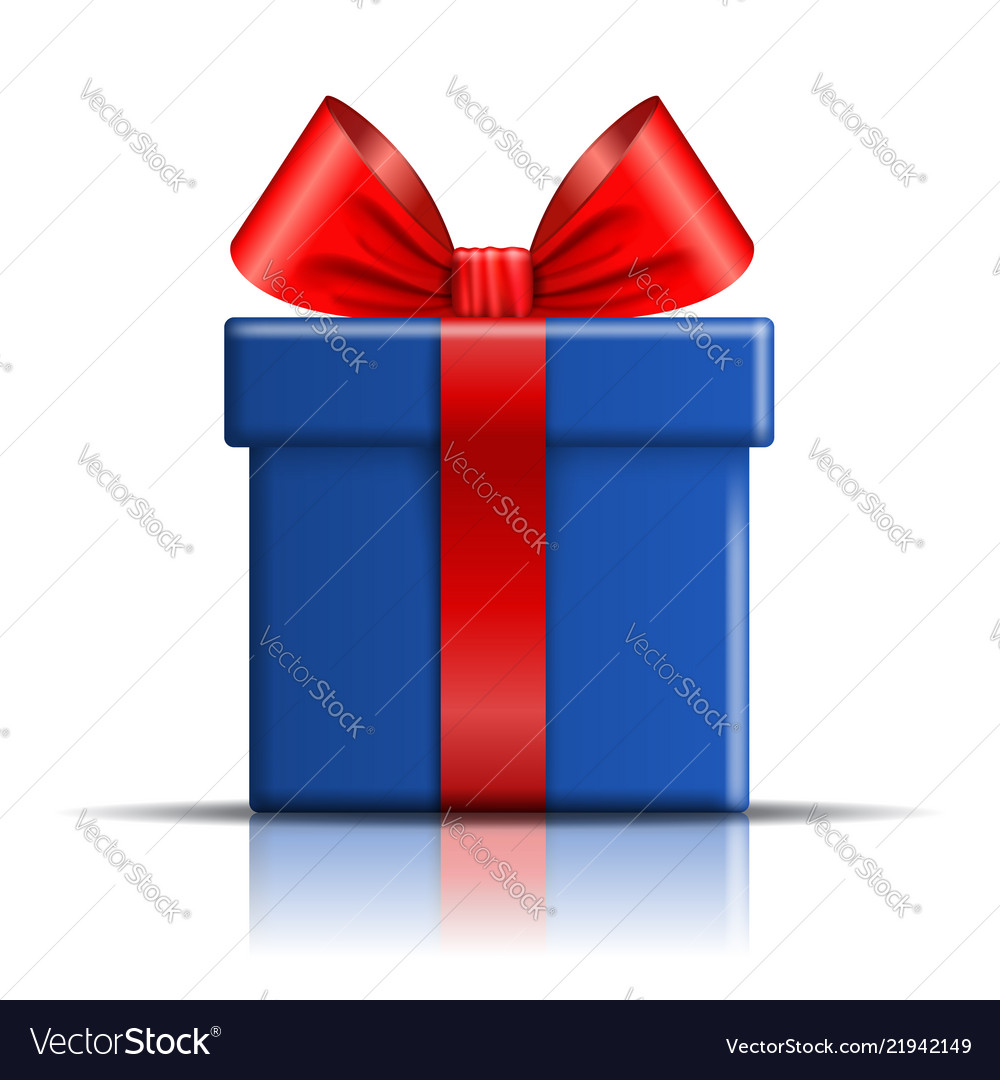 Gift box blue icon open surprise present template