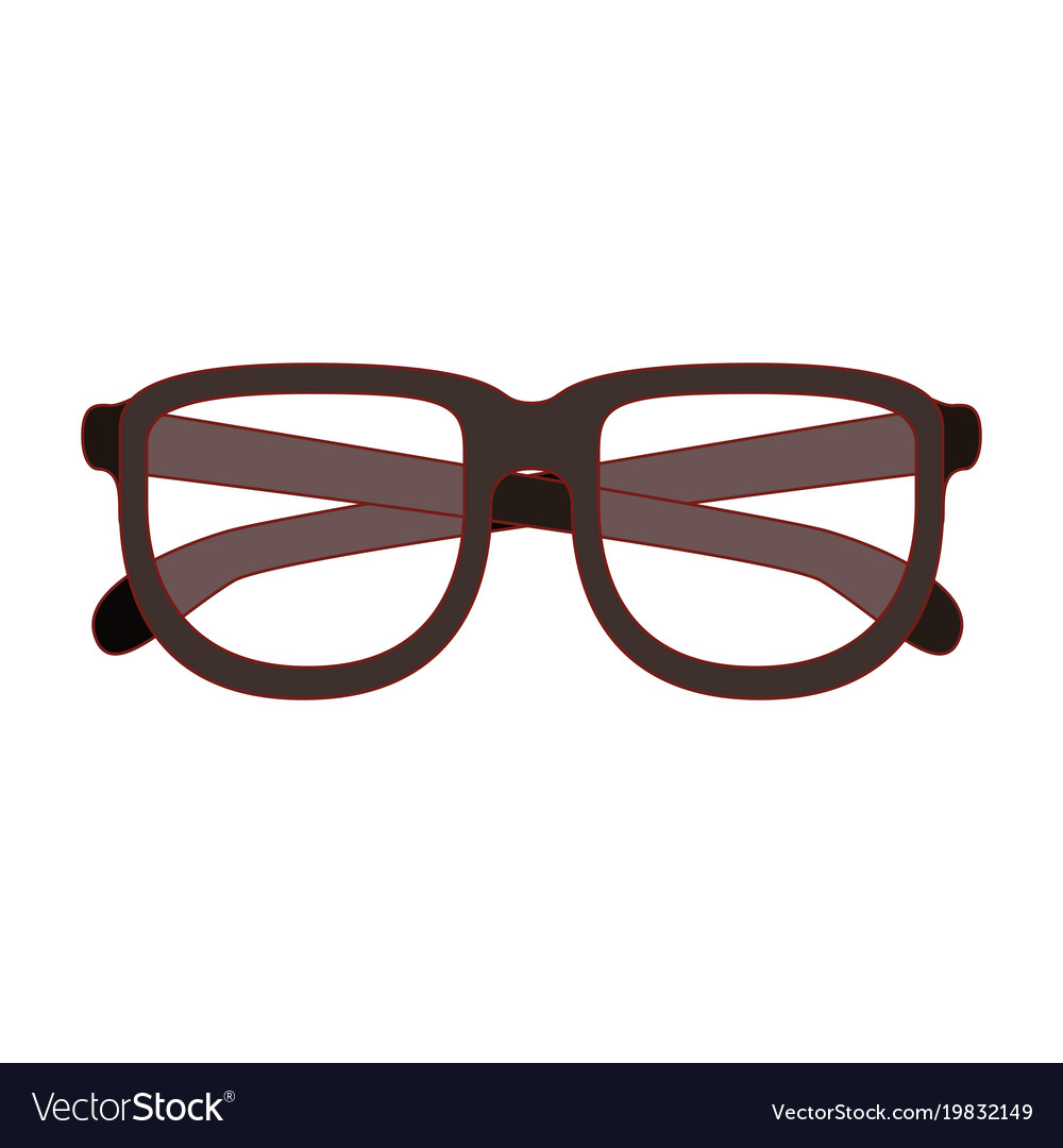 df6ff5e9726d Gl With Brown Frame Silhouette Thin Red Vector Image