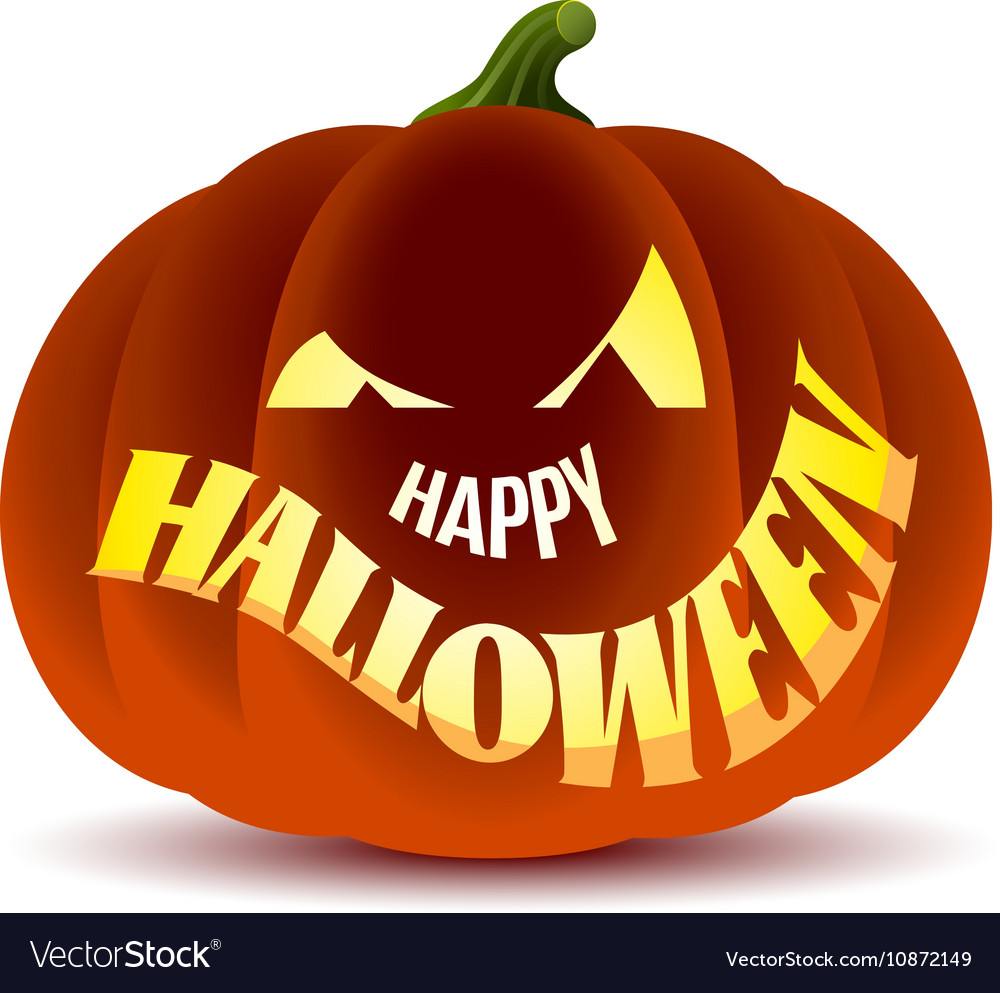Happy Halloween With Pumpkin Royalty Free Vector Image