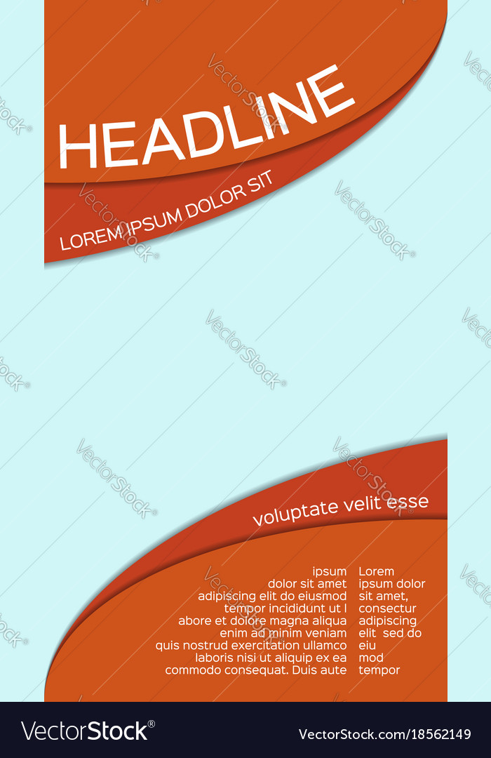 Leaflet template with place for your image