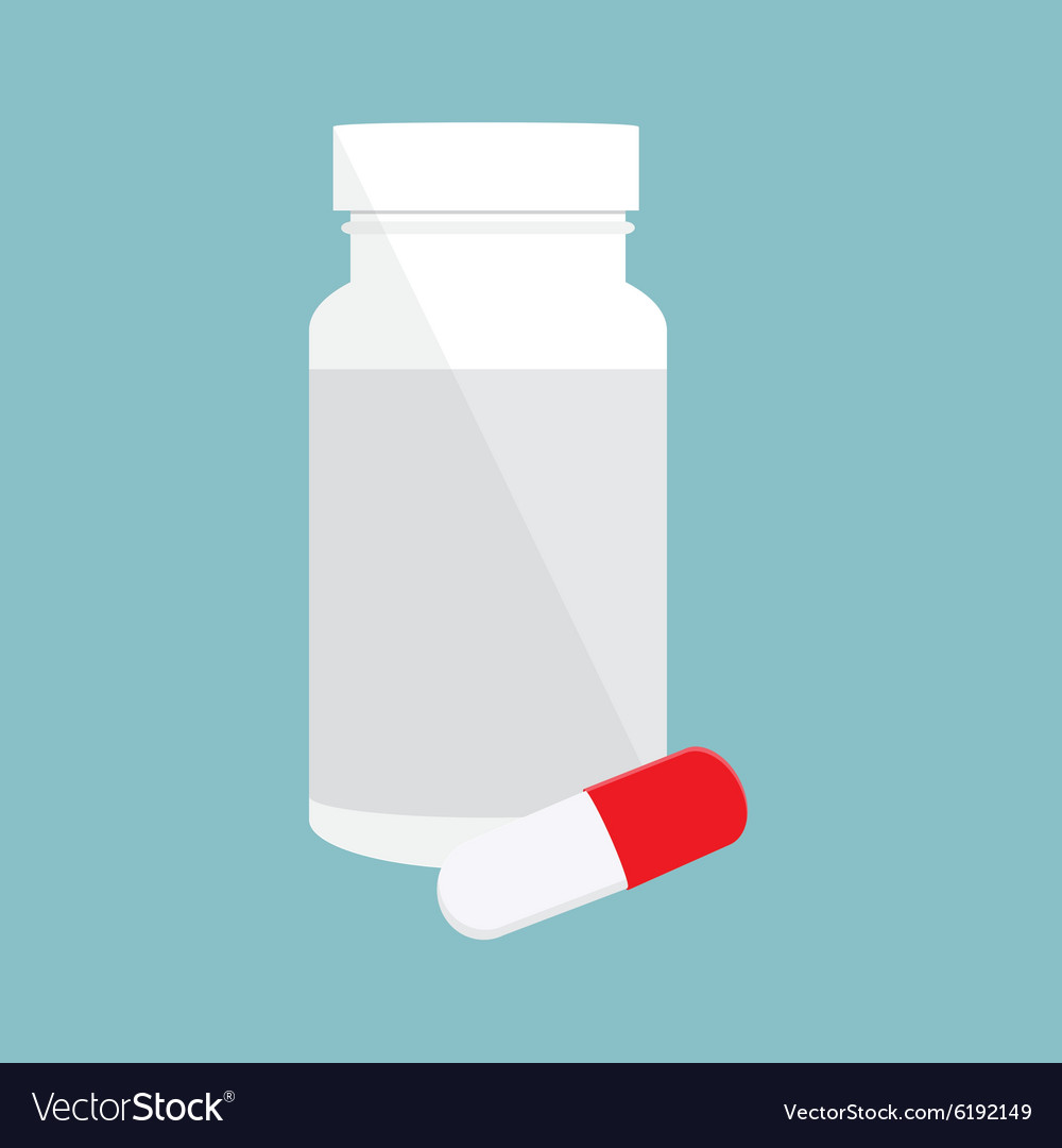 Pill bottle vector image