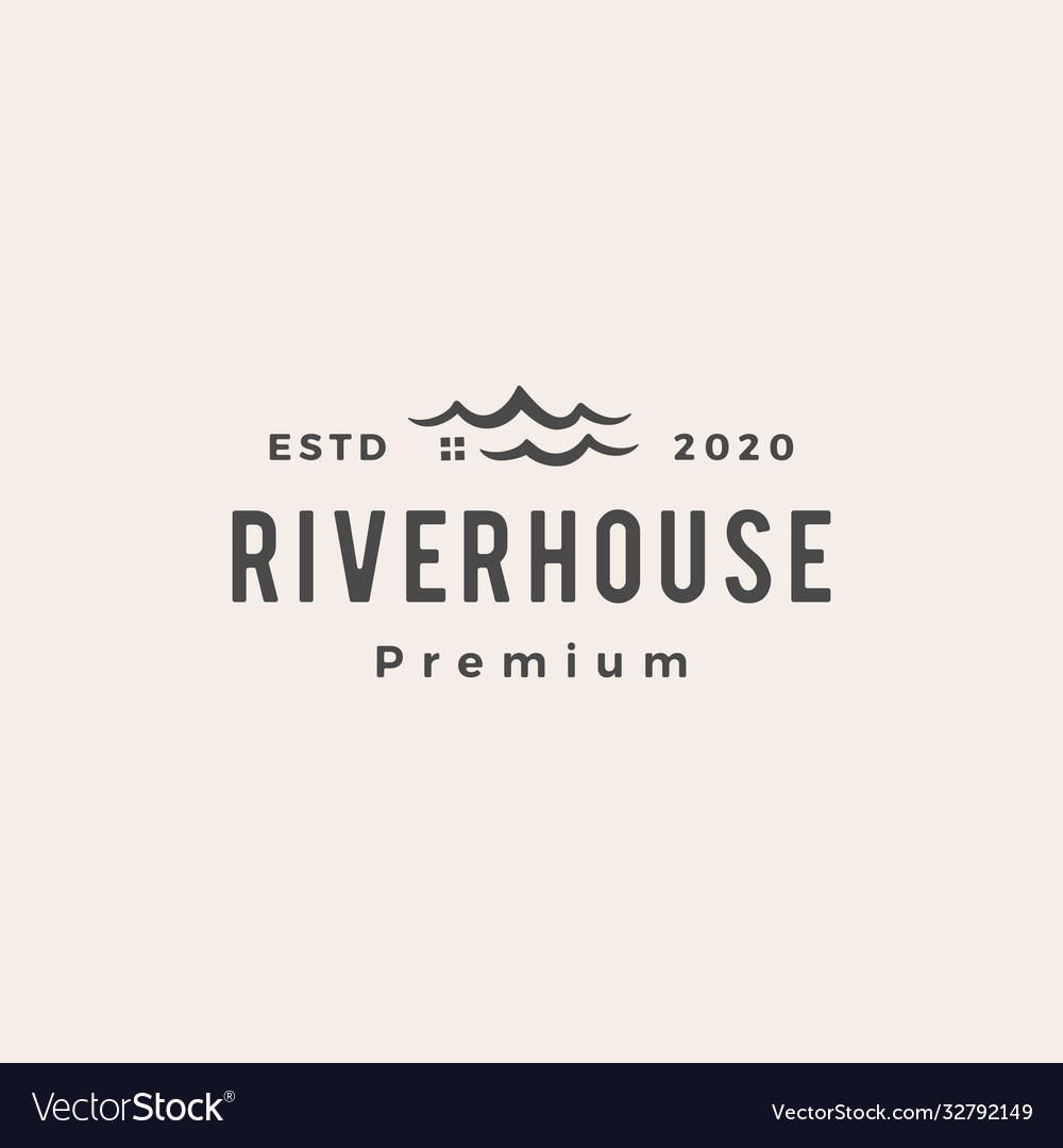 Road river house hipster vintage logo icon