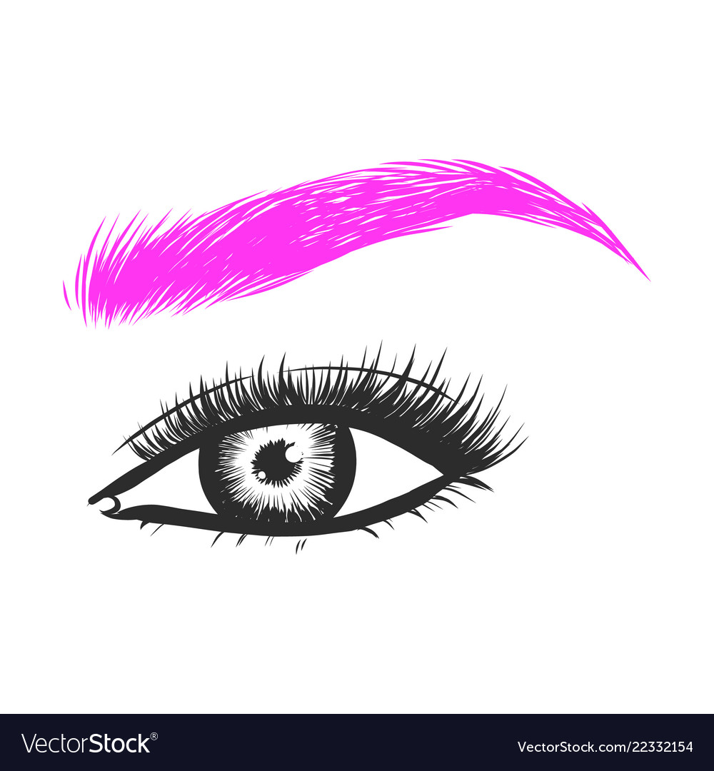 Beautiful hand drawing eyebrows for the logo of