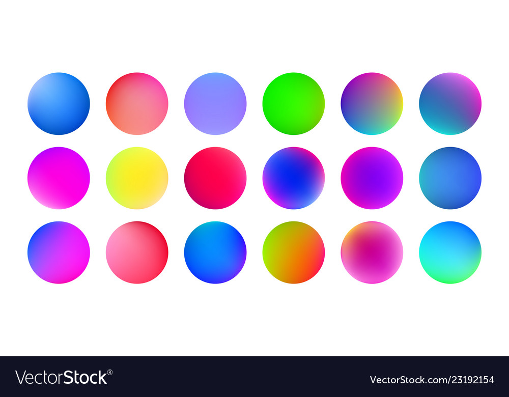 Gradient color circles abstract watercolor paint