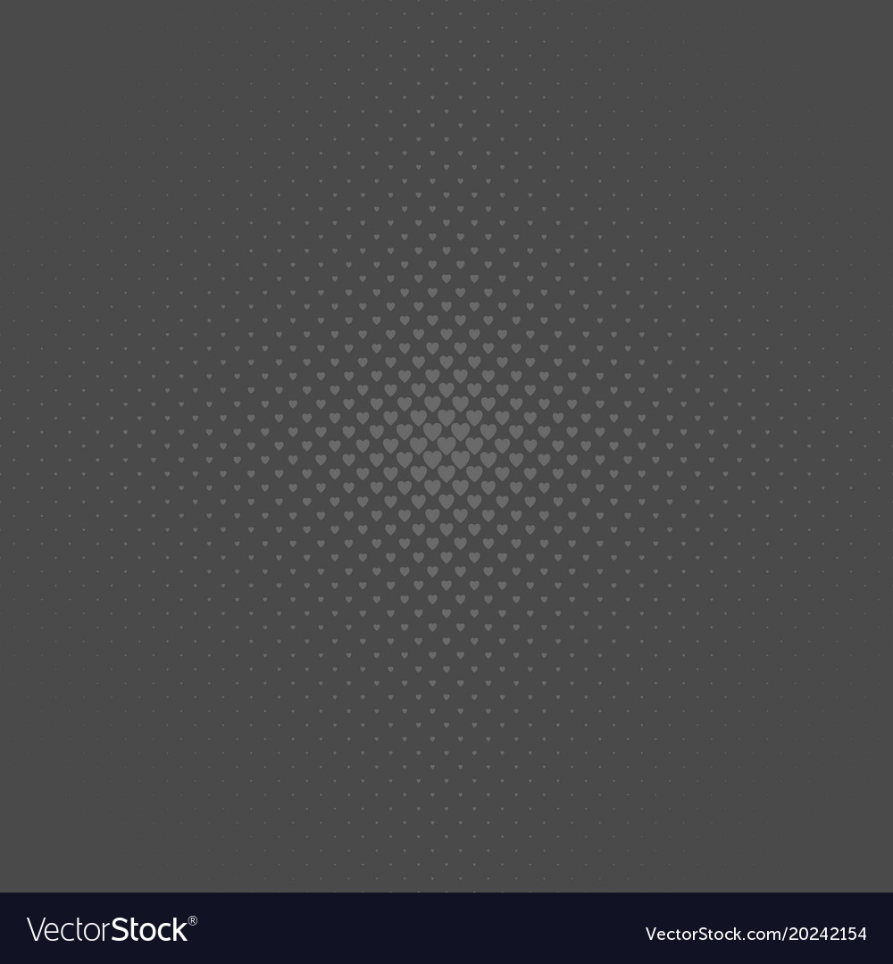 Grey abstract halftone heart background pattern