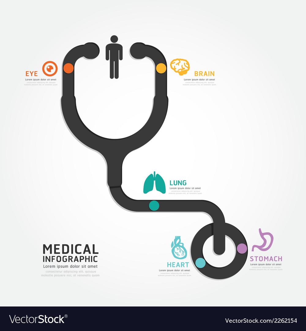 Infographics medical design stethoscope diagram