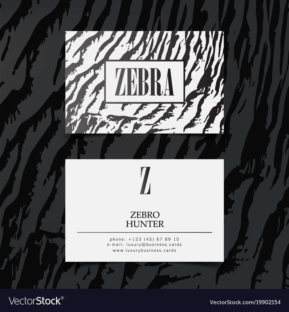 Luxury fashion business cards template Royalty Free Vector