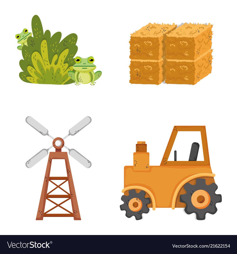 Set of farm icons