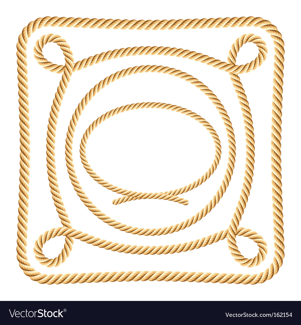 Set of rope elements vector image