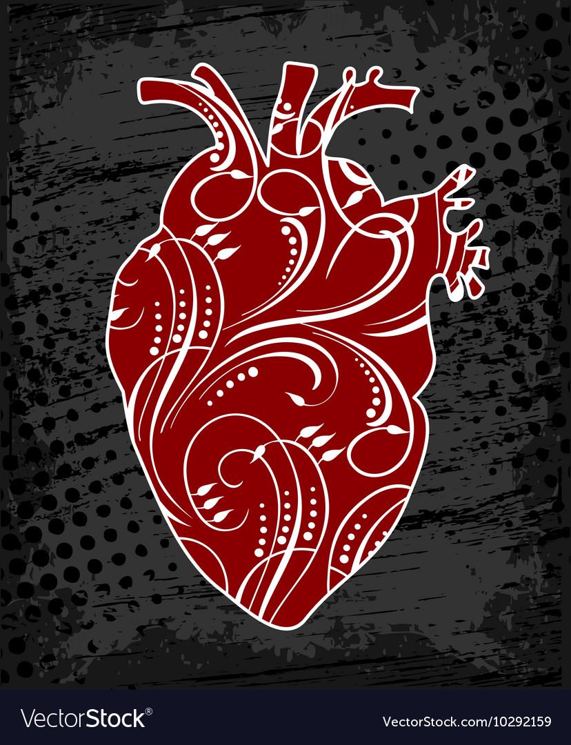 Anatomical floral human heart