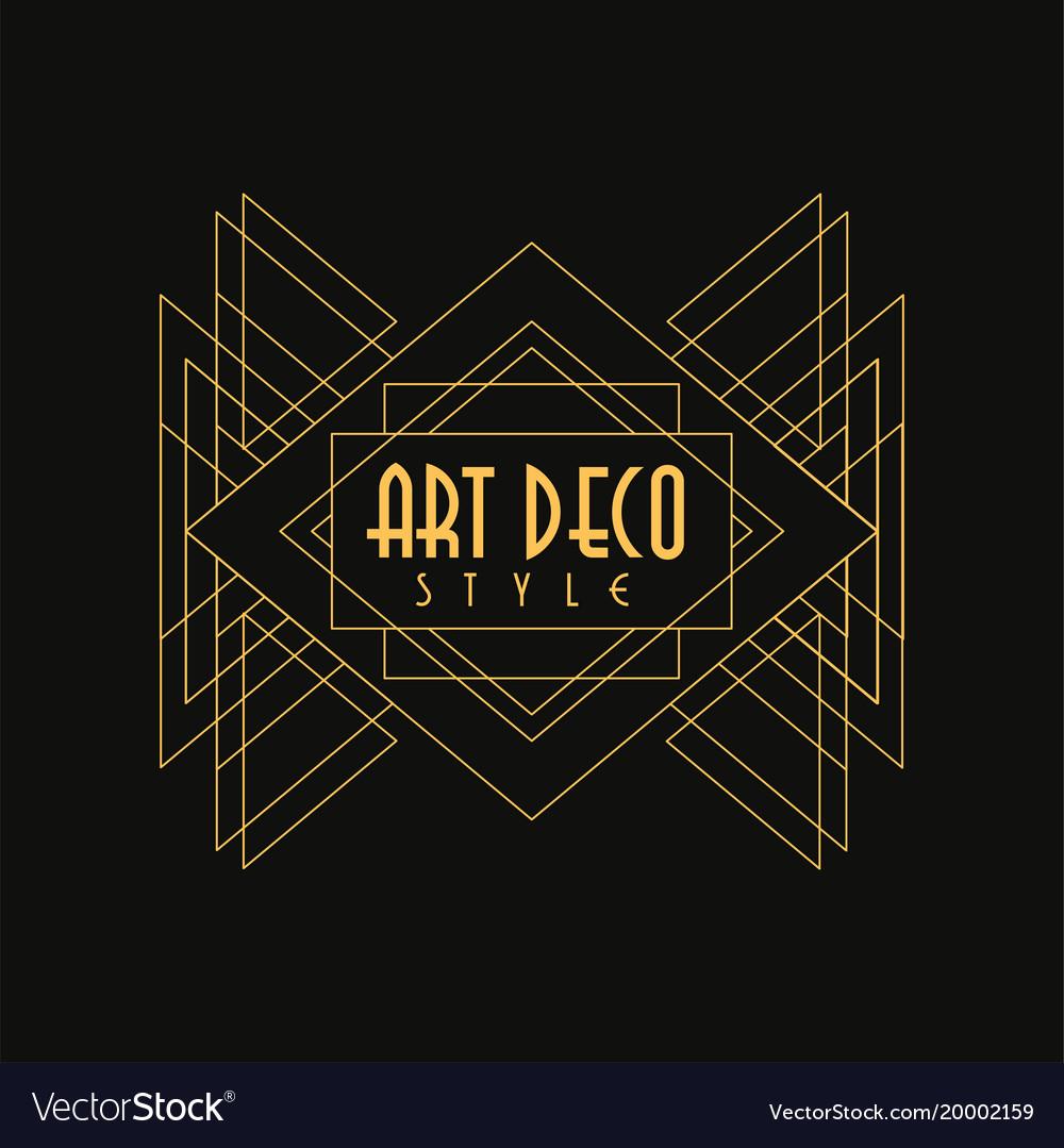 Art deco style logo luxury minimal geometric