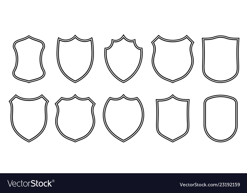 Badge Patches Outline Templates Sport Club Vector Image