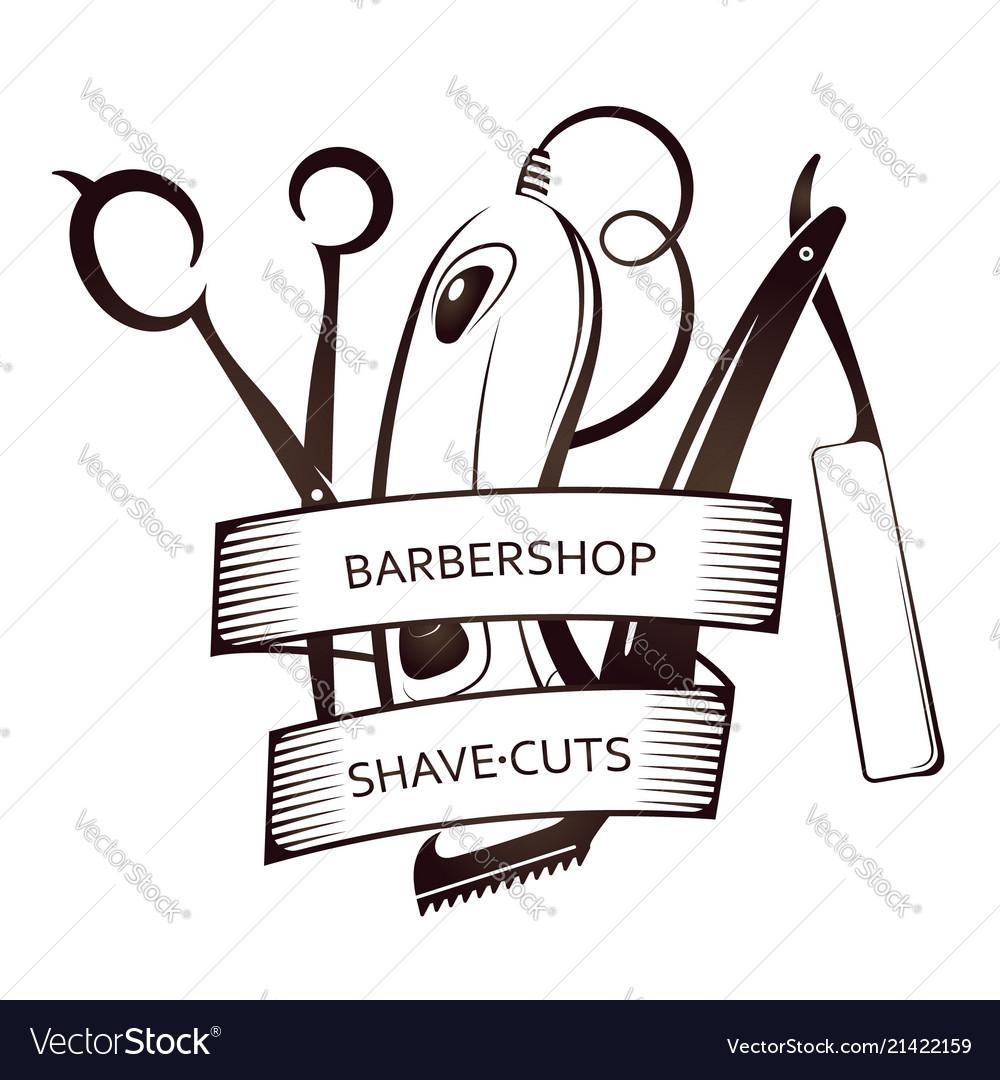 Barbershop tool set symbol