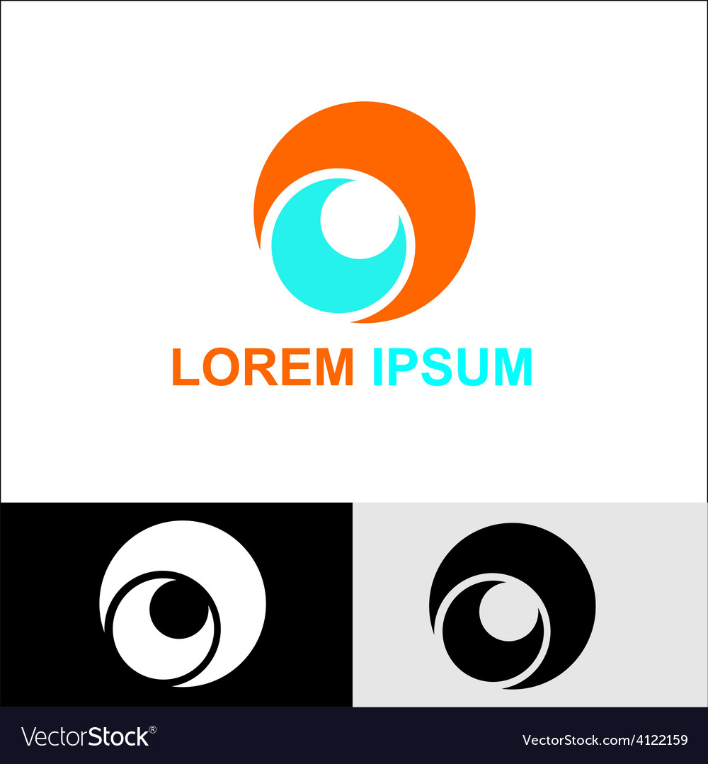 Circle shape round infinity logo vector image