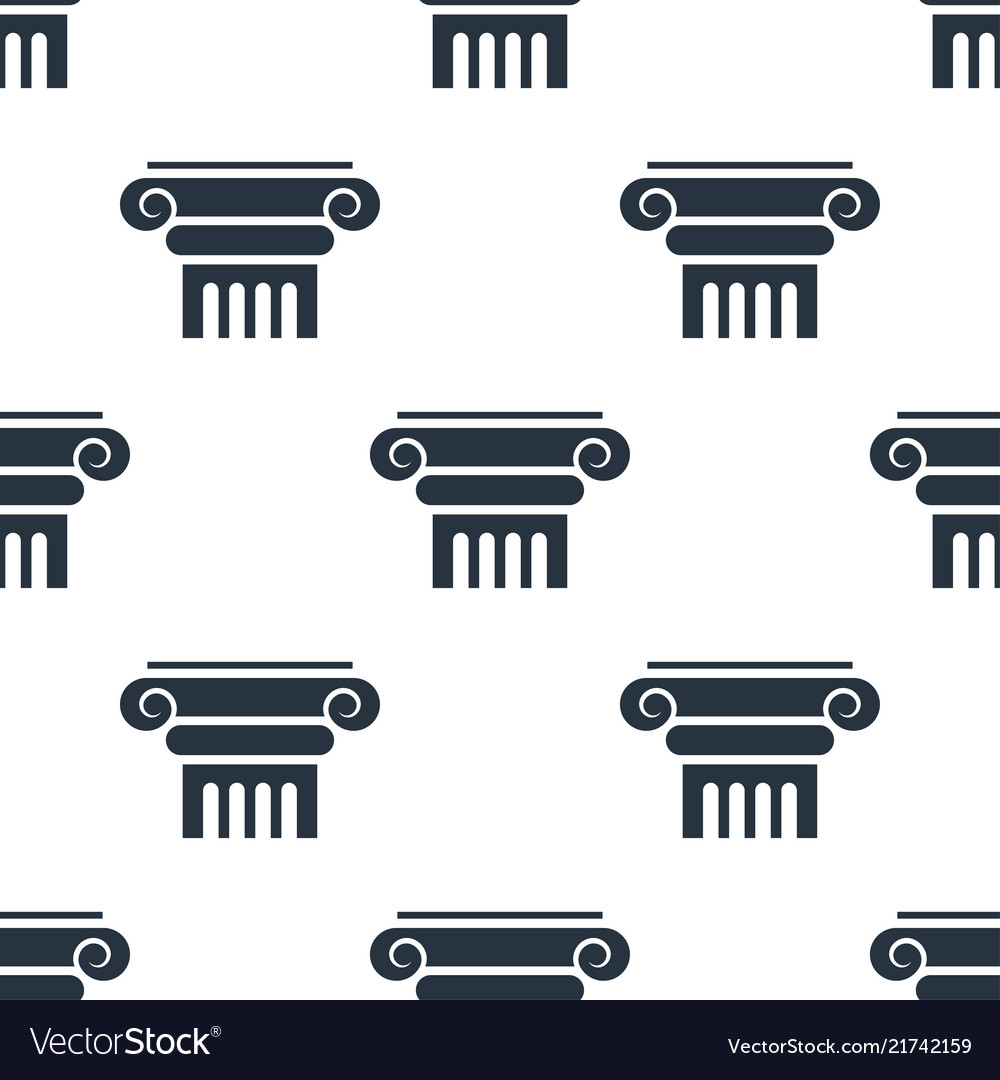 Seamless column pattern education symbol from