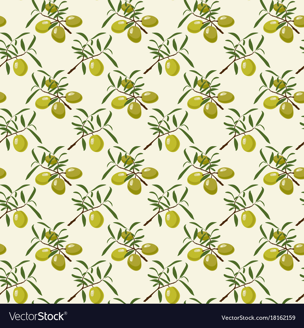 Seamless pattern with olive