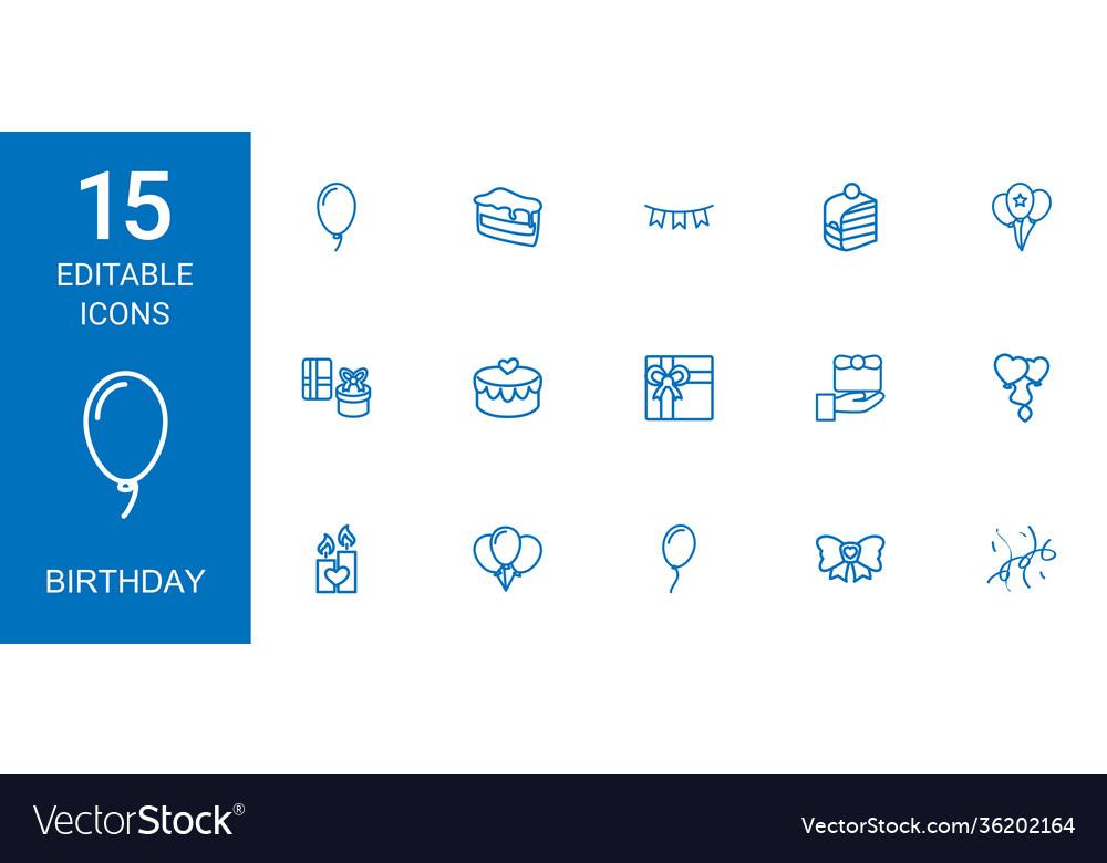 15 birthday icons