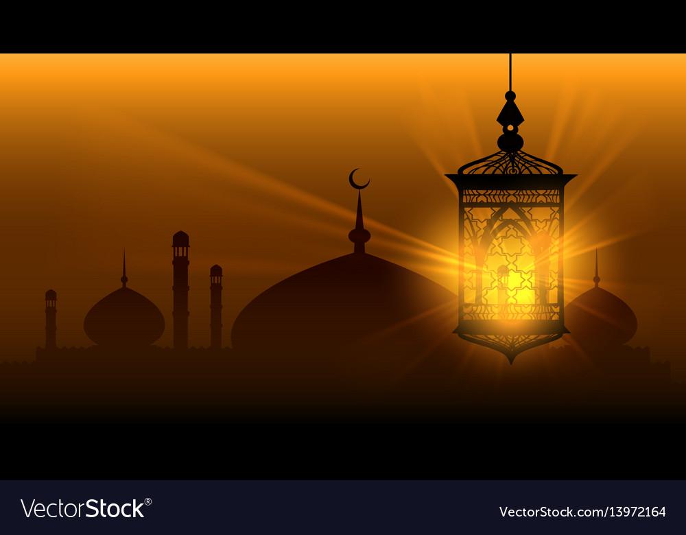 Arabian nights ramadan kareem islamic background