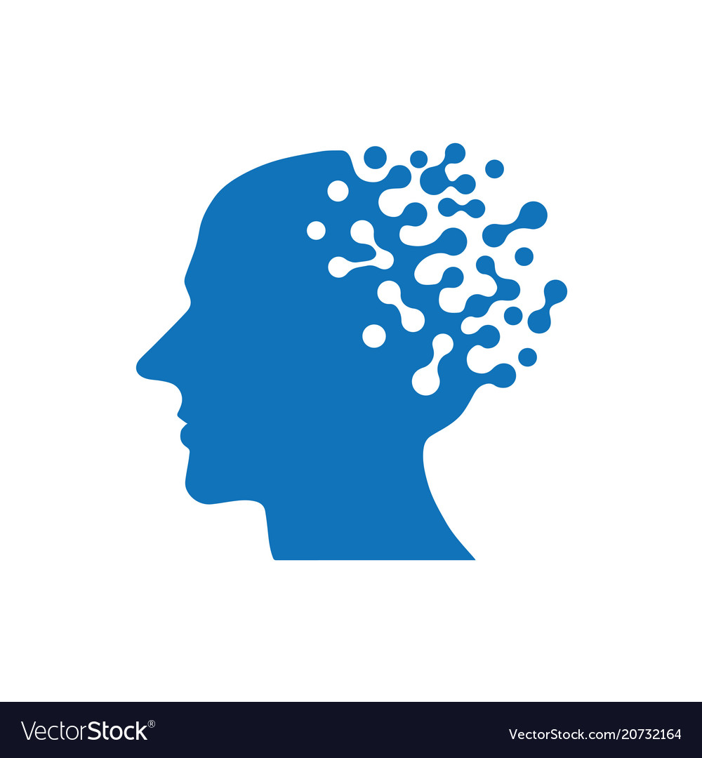 Artificial intelligence icon human ai vector image