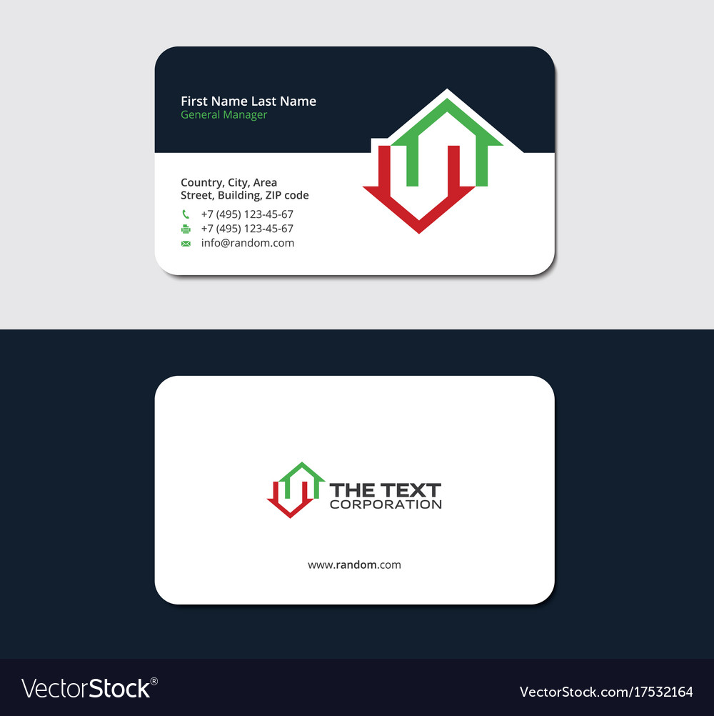 Business card for a home builder Royalty Free Vector Image