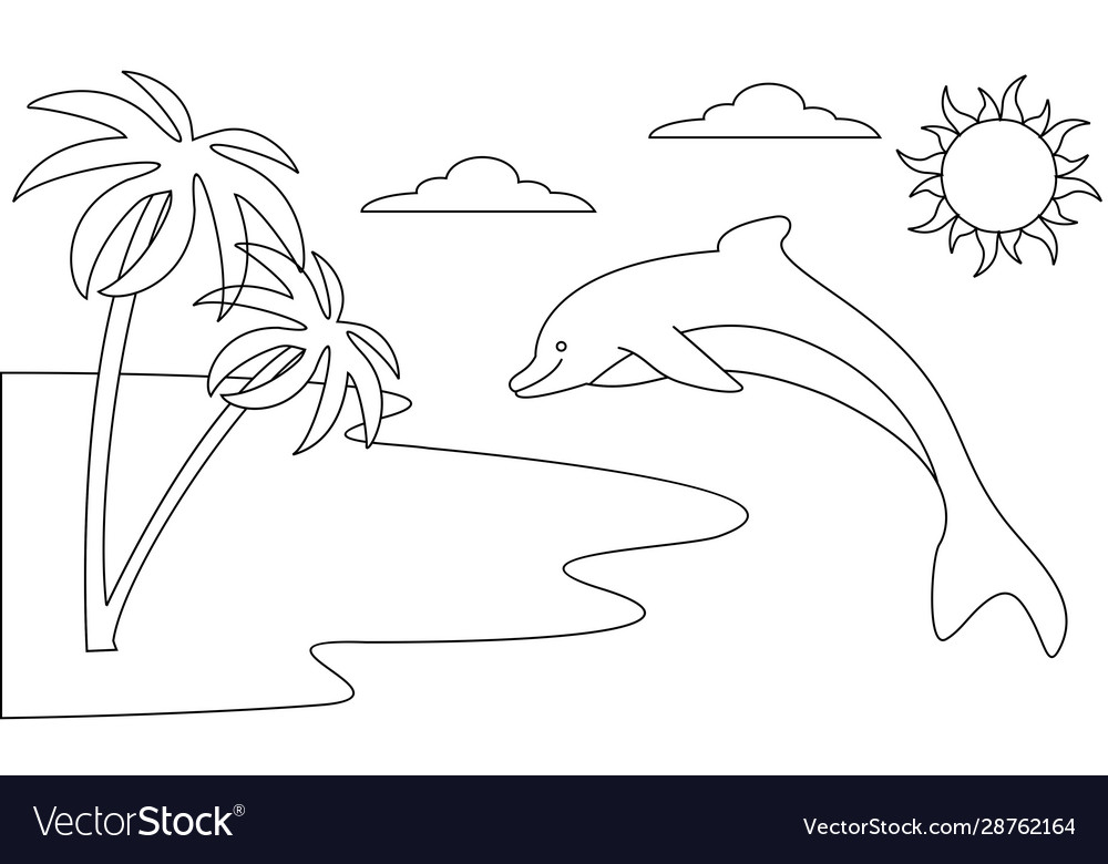Coloring Book Animals To Educate Kids Learn Color Vector Image