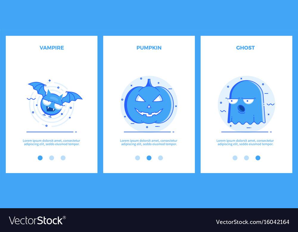 Halloween icons - vampire halloween pumpkin