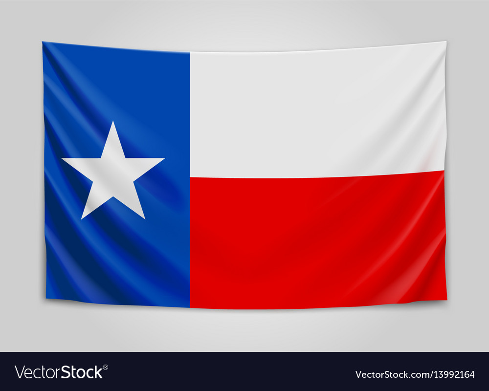 Hanging flag of texas state flag concept